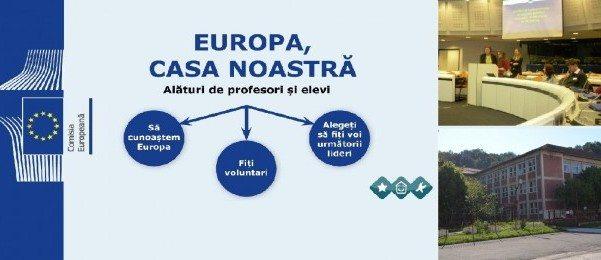 """Colegiul Naţional """"Mircea Eliade"""" din Reșița,  din nou reprezentat la Bruxelles în Campania """"Europa, casa noastră"""""""