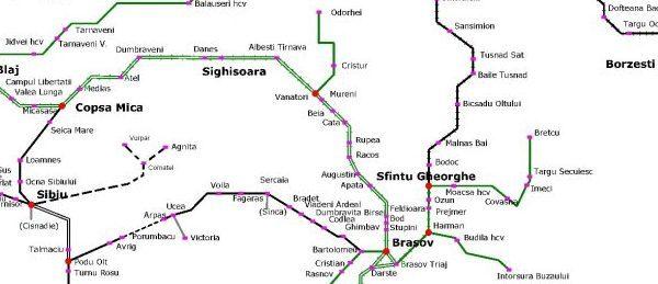 Reabilitarea tronsonului feroviar Sighișoara-Brașov, între cele 195 de proiecte de infrastructură finanțate de Comisia Europeană, cu o valoare totală de 6.7 miliarde EUR