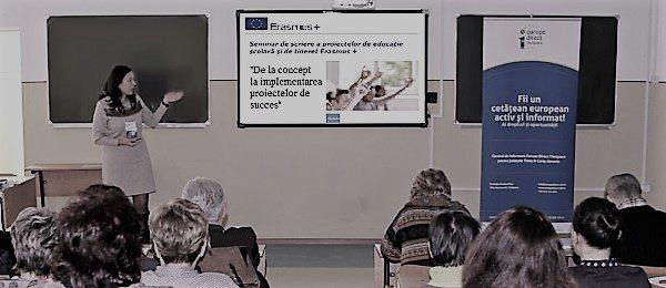 Seminar de scriere a proiectelor in programul Erasmus+ pentru cadre didactice la Reșița | Activitatea Europe Direct Timișoara