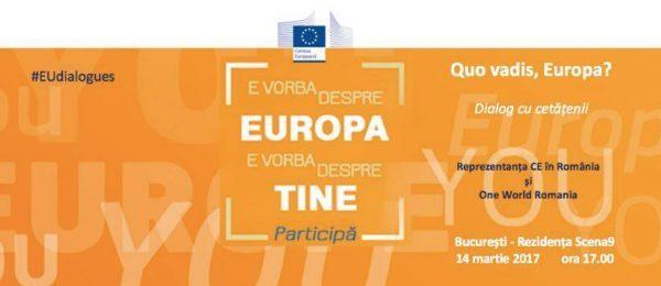 """Dezbatere """"De 10 ani în Europa: pe val, la vale și înapoi"""""""