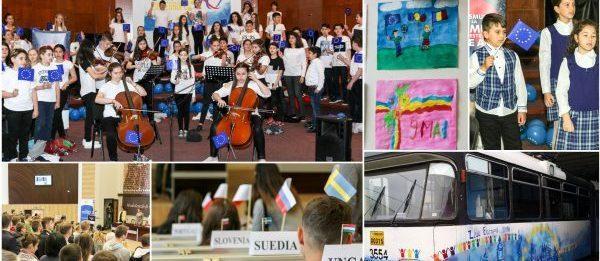 Ziua Europei, marcată la Timișoara și Reșița prin expoziții, spectacole și evenimente educative | Fotoreportaj Europe Direct Timișoara