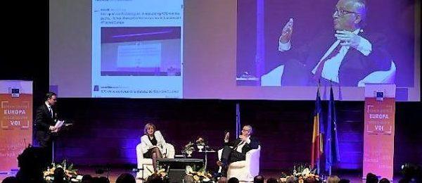 Președintele Jean-Claude Juncker și Comisarul Corina Crețu în dialog cu cetățenii: viitorul României este în UE