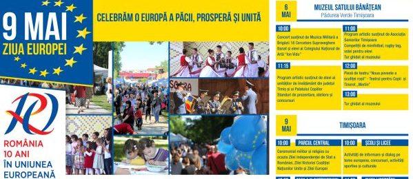 Timișoara sărbătorește Ziua Europei: Programul evenimentului aniversar #10aniROinUE