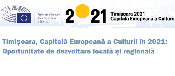 Parlamentul European, serie de evenimente la Timișoara vineri, 9 iunie 2017