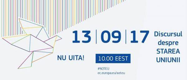 #SOTEU: Discursul președintelui Juncker privind starea Uniunii, Strasbourg, 13 septembrie 2017