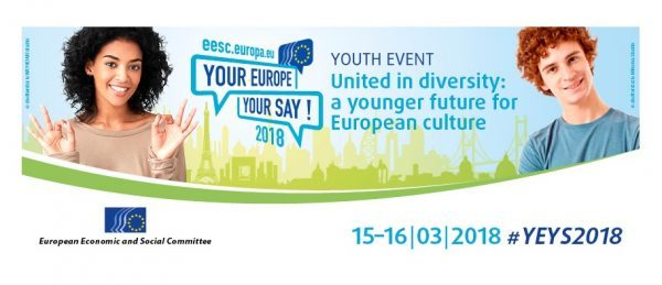 Your Europe, Your Say! 2018 | Uniți în diversitate: un viitor mai tânăr pentru cultura europeană